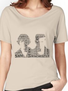 Sam and Dean Winchester Supernatural Hunter Brothers Women's Relaxed Fit T-Shirt
