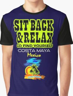 Sit Back And Relax In Costa Maya Graphic T-Shirt