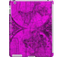World Map (1691) Pink & Black iPad Case/Skin
