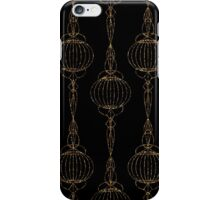 Geometric ornament gold seamless pattern. Modern art deco stylish texture. Gold trendy glitter print on black background iPhone Case/Skin