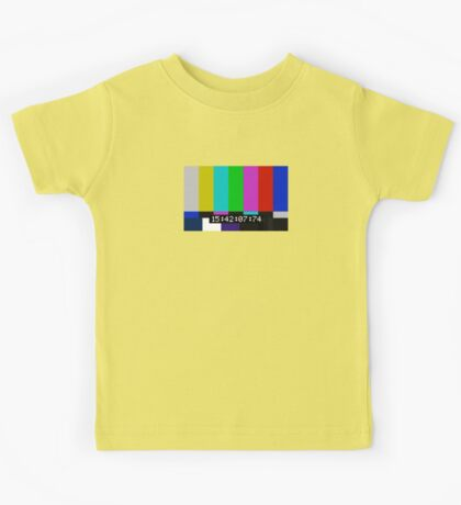 SMPTE color bars Kids Tee