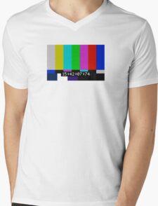 SMPTE color bars Mens V-Neck T-Shirt