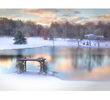 Winter Comes to Weaver Pond Photographic Print