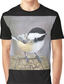 Chickadee on a used to be tree Graphic T-Shirt