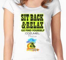 Sit Back And Relax In Acapulco, Mexico Women's Fitted Scoop T-Shirt
