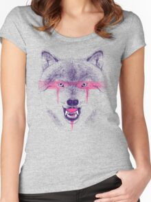 Wolfpaint Women's Fitted Scoop T-Shirt