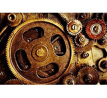 Gold Gears Photographic Print