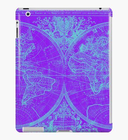 World Map (1691) Purple & Blue iPad Case/Skin