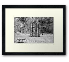Hiding in Trees Framed Print