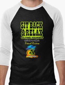 Sit Back And Relax In Grenada Men's Baseball ¾ T-Shirt