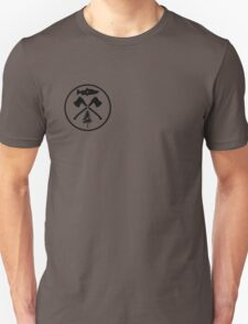 PAC NOR WES | Salmon Axe Tree Circle Unisex T-Shirt