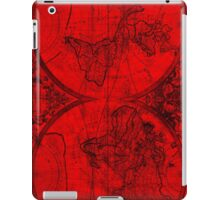 World Map (1691) Red & Black iPad Case/Skin
