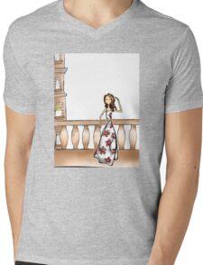 Gazing Girl I Know Mens V-Neck T-Shirt