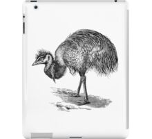 Vintage Emu Birds Illustration Retro 1800s Black and White Emus Bird Image iPad Case/Skin
