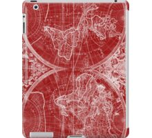 World Map (1691) Red & White iPad Case/Skin
