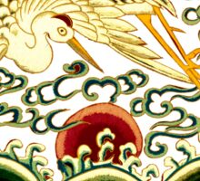 Asian Art Chinese Crane Sticker