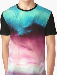Closeup Fluorite Abstract Art Graphic T-Shirt