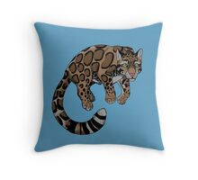Clouded Leopard Throw Pillow