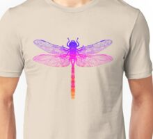 Psychedelic Colorful Dragonfly Unisex T-Shirt