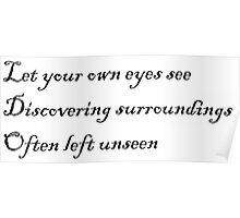 Often Left Unseen Haiku Poster