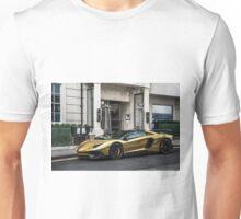 Chrome Gold Lamborghini Aventador SV LP750-4  Unisex T-Shirt
