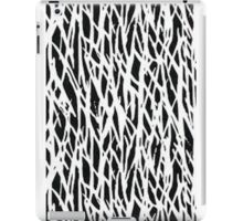 Black and white branch-like patten iPad Case/Skin