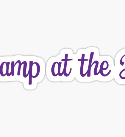 Camp at the J Sticker Sticker