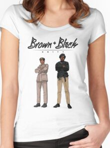 Brown + Black Unity Women's Fitted Scoop T-Shirt