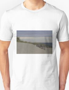 Sand dunes by the sea Unisex T-Shirt