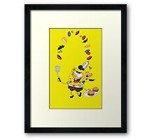 Spongebob and Krabby Patties Framed Print
