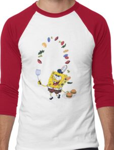 Spongebob and Krabby Patties Men's Baseball ¾ T-Shirt