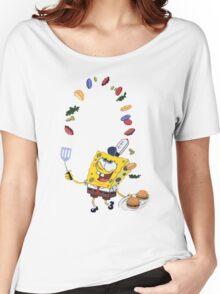 Spongebob and Krabby Patties Women's Relaxed Fit T-Shirt
