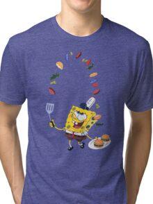 Spongebob and Krabby Patties Tri-blend T-Shirt