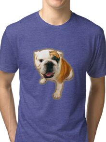 Fun Lovin' Bulldog! Tri-blend T-Shirt