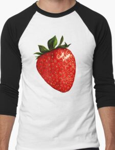 Strawberry Pattern Men's Baseball ¾ T-Shirt