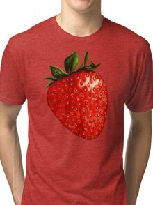 Strawberry Pattern Tri-blend T-Shirt