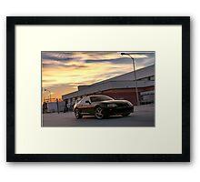 Black Toyota Supra  Framed Print