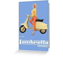 LAMBRETTA JAYNE MANSFIELD Greeting Card