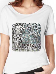 Alphabet Jumble  Women's Relaxed Fit T-Shirt