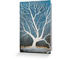 Silent winter tree Greeting Card