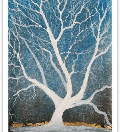 Silent winter tree Sticker