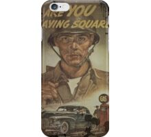 Are You Playing Square iPhone Case/Skin
