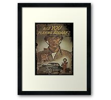 Are You Playing Square Framed Print