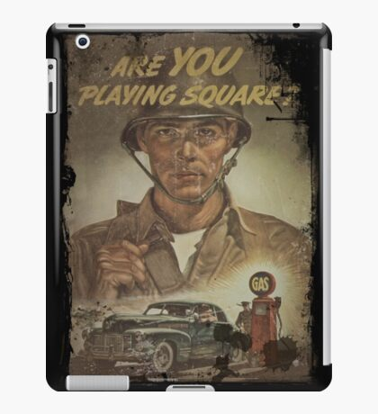 Are You Playing Square iPad Case/Skin