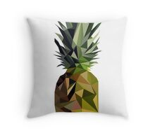Low Poly Pineapple Throw Pillow
