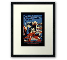 Build for Your Navy Seabees Framed Print
