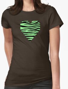 0434 Mint Green Tiger Womens Fitted T-Shirt