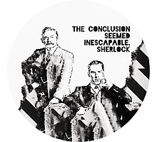 Sherlock Holmes and John Watson Sherlocked Photographic Print