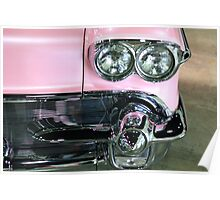 Pink Classic Car Poster