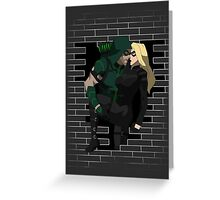 cw arrow and black canary Greeting Card